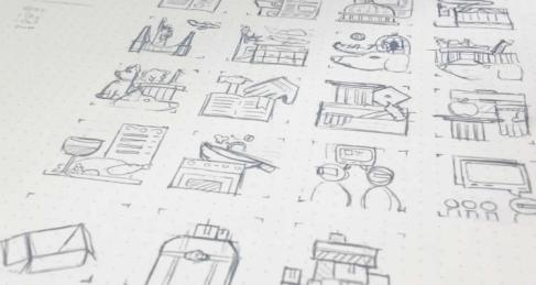 icon sketching