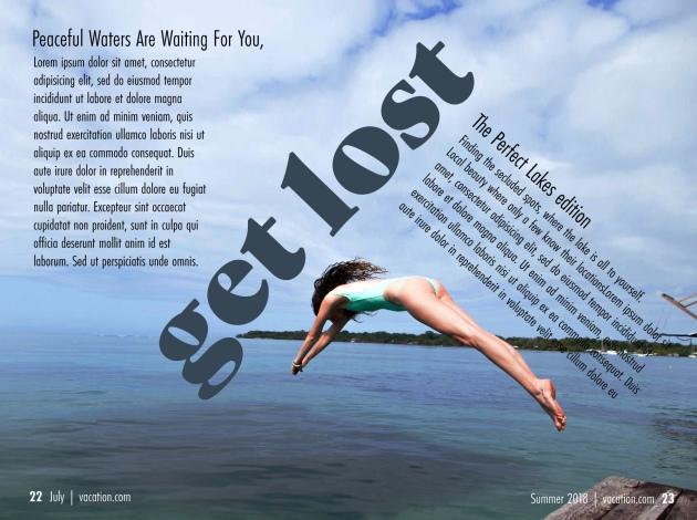Get Lost Magazine spread